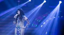 "Cher performs at the Air Canada Centre in Toronto during her ""Dressed to Kill"" tour on Monday, April 7, 2014. (Peter Power for The Globe and Mail)"
