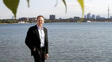 Philip Enquist, Parthner at Skidmore, Owings & Merril LLP, in front of Lake Ontario near Hiumber River., Toronto October 05, 2011. (Fernando Morales/The Globe and Mail/Fernando Morales/The Globe and Mail)