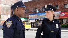 """Leelee Sobieski and Harold House Moore in a scene from the pilot episode of """"NYC 22"""" (David M. Russell/CBS)"""