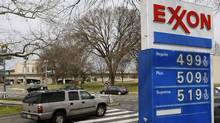 Gasoline prices are displayed at an Exxon station in Washington in this March 2, 2012 file photo. (GARY CAMERON/REUTERS)