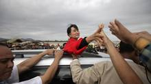 Myanmar pro-democracy leader Aung San Suu Kyi tops Foreign Policy magazine's annual list of the 100 Top Global Thinkers. (Soe Zeya Tun/Reuters)
