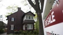 A house for sale in Toronto's Beaches neighbourhood, in Toronto, May19, 2013. (Brett Gundlock/ Boreal Collectiv For The Globe and Mail)