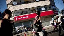 Scotiabank, the most international of Canada's banks, hits the streets in the Chilean beach town of Reñaca. Bank of Nova Scotia chief executive officer Brian Porter has unveiled a comprehensive global restructuring that caps off his bold first year at the helm of Canada's most international lender. (Fernando Rodriguez)
