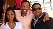 DeCosta Marketing's Jesse Decosta, right, with actor spouses Jada-Pinkett Smith and Will Smith (COURTESY OF DECOSTA)