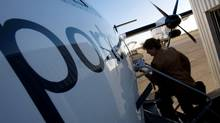 Porter Air at the Toronto Island Airport. (Peter Power/Peter Power/THE GLOBE AND MAIL)