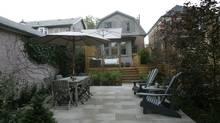 The backyard of James Dale'sToronto home. June 24, 2009. (J.P. MOCZULSKI)