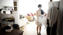 Hrissa Soumpassis, 31, currently operates her own fashion label out of her rented 700-square-foot live-work studio at Main and 5th Ave. (Rafal Gerszak for the globe and mail)