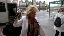 Senator Pamela Wallin arrives at her office in Ottawa on May 21, 2013. (DAVE CHAN FOR THE GLOBE AND MAIL)