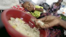 Children and their mothers receiving food and treatment , mostly for severe malnutrition and measels, at the hospital that MSF has established in Mogadishu, Somalia on Sept. 7, 2011. (Peter Power/The Globe and Mail/Peter Power/The Globe and Mail)