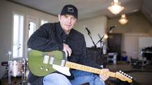 Former NHL'er Theo Fleury is photographed in the sound studio at OCL Studios near Calgary, Alberta on Wednesday, September 16th, 2015. Fleury has released a debut single, My Life's Been a Country Song. His album, I Am Who I Am, is set for release Oct. 23. (Chris Bolin For The Globe and Mail)