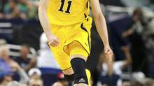 Nik Stauskas is attending the NBA's rookie camp this year with fellow Canadians Tyler Ennis and Andrew Wiggins. (JIM YOUNG/REUTERS)