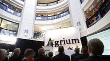 Agrium's annual meeting in Calgary, Friday, May 11, 2012. If you've been waiting for the shine to come off of fertilizer stocks, the time has arrived. (Jeff McIntosh/The Canadian Press)