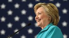 Democratic presidential candidate Hillary Clinton speaks at a campaign event in Reno, Nev., on Aug. 26, 2016. (JOSH EDELSON/AFP/Getty Images)