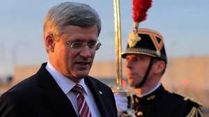 Prime Minister Stephen Harper arrives in Paris on June 6, 2012. (Sean Kilpatrick/The Canadian Press)