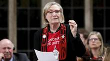Canada's Indigenous Affairs Minister Carolyn Bennett speaks during Question Period in the House of Commons on Parliament Hill in Ottawa, Canada, December 8, 2015. (CHRIS WATTIE/REUTERS)
