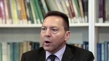 Yannis Stournaras has been appointed the new finance minister of Greece. (YORGOS KARAHALIS/REUTERS)