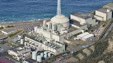 In this aerial photo taken in Jan. 2016, the fast-breeder reactor Monju stands in Tsuruga, Fukui prefecture, on the Sea of Japan coast. (Kyodo News via AP)