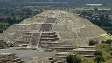 Wal Mart de Mexico allegedly paid $52,000 (U.S.) to change a zoning map so it could open a store near the ancient pyramids in Teotihuacan, Mexico shown here. (HENRY ROMERO/REUTERS)