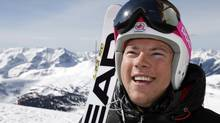 Canadian Alpine ski team member, Ben Thomsen, from Invermere, B.C., pauses while training for the 2014 Sochi Olympics at Sunshine Village near Banff, Alta., Thursday, May 2, 2013. (Jeff McIntosh/THE CANADIAN PRESS)