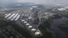 Irving Oil's refinery near Saint John is shown on Aug. 27, 2013. TransCanada executives have been touring the country to promote the proposed Energy East project, which would reconfigure part of its cross-Canada natural gas mainline to carry oil from Alberta to Saint John. (CHRISTINNE MUSCHI FOR THE GLOBE AND MAIL)