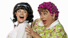 Jennie Neumann and Jay Brazeau in the Arts Club Theatre Company's production of Hairspray. (David Cooper)