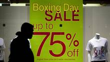 Aggressive Boxing Day marketing, combined with a bad economy, is prompting holiday shoppers to violence, psychologists suggest. (Pawel Dwulit/The Canadian Press)