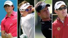 Rory McIlroy, Ian Poulter, Luke Donald and Lee Westwood