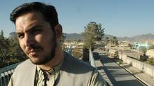 Hidayatullah Azizi, 30, describes himself as the only film director in Kandahar. His father was a director, too; he still has the VHS cassettes they smuggled out of the country when they were fleeing the Taliban, fearing they could be killed if they were caught with forbidden materials (Graeme Smith/The Globe and Mail)