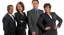 "Shaun Majumder, Geri Hall, Mark Critch and Cathy Jones of the CBC's ""This Hour Has 22 Minutes"""