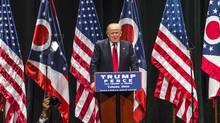 Republican presidential nominee Donald Trump addresses supportersin Toledo, Ohio, on Sept. 21, 2016. (Angelo Merendino/Getty Images)