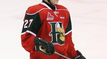 Tampa Bay Lightning No. 3 draft pick Jonathan Drouin of the Halifax MooseHeads left Friday's QMJHL game against the Quebec Remparts with an upper body injury. (file photo) (CHRISTINE MUSCHI/THE GLOBE AND MAIL)