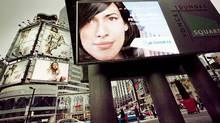 Billboards at Dundas Square in Toronto. (JENNIFER ROBERTS/Jennifer Roberts for The Globe and Mail)