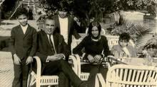 Kamal Al-Solaylee and family at the Kasr el Nile Casino, 1972. Kamal is on far left.