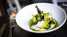 Cauliflower porridge, Brassicas and Farro dish is pictured at Mission restaurant in Vancouver, British Columbia (Ben Nelms/The Globe and Mail)