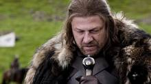 Game of Thrones received an Emmy nod for Best Drama Series. Seen here: Sean Bean portrays Eddard Stark in a scene from the HBO series. (Nick Briggs/AP Photo/HBO, Nick Briggs)