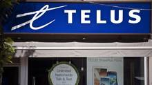A Telus store is seen on Bloor Street West in Toronto on Aug. 15, 2013. (Galit Rodan/The Canadian Press)