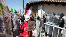 In December 2009, demonstrators in Chiapas protested against the killing of anti-mining activist Mariano Abarca Roblero, who demanded the closing of Blackfire's mine. (Rene Araujo/Reuters)