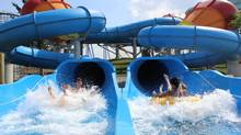 The Typhoon water slide is a new attraction at Canada's Wonderland.