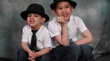 Noah, left, and Connor Barthe were killed by a 45-kilogram African rock python that escaped its enclosure inside an apartment where they were staying for a sleepover. (HO/THE CANADIAN PRESS)