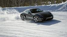 Instructors at Porsche Canada's Camp4 Experience teach drivers how to handle icy conditions at high speeds. (Arctic Media)