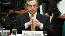 Industry Minister Tony Clement appears before the House of Commons Industry committee looking into changes of the long-form census on Parliament in Ottawa, Tuesday, July 27, 2010. (FRED CHARTRAND/FRED CHARTRAND/THE CANADIAN PRESS)