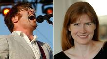 Colin Meloy, left, who also performs in the band The Decemberists, and Maile Meloy
