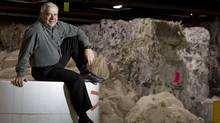 Alain Lemaire, president and chief executive officer of Cascades Inc. sits on a roll of tissue in the raw material section of the tissue plant in Kingsley Falls, Quebec on March 14, 2008. (Christinne Muschi for The Globe and Mail)