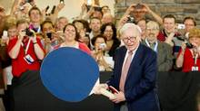 Shares of predictable but unexciting companies, like Warren Buffett's Berkshire Hathaway, are often undervalued. (ALYSSA SCHUKAR/AP)