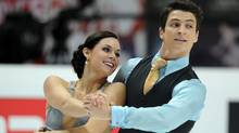 Canada's Tessa Virtue and Scott Moir perform their short program in the ice dance category during the ISU World Figure Skating Championships on April 29, 2011 in Moscow. (YURI KADOBNOV/AFP/Getty Images)