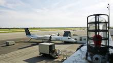 A Porter plane sits at Toronto's island airport. (Jim Ross/The Globe and Mail)