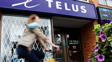 A Telus store in Toronto on June 3, 2012. (Michelle Siu For The Globe and Mail)