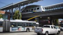 A new rapid transit line will take Port Moody and Coquitlam commuters to downtown Vancouver in less than an hour. (John Lehmann/The Globe and Mail)