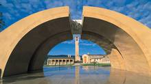 Mission Hill has 11 key architectural aspects, including an impressive arch that welcomes visitors. (Mission Hill Winery)