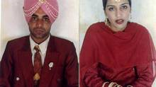 Sukhwinder Singh Sidhu, left, and Canadian-born beautician Jaswinder Kaur were attacked in India in June, 2000.